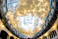 100,000 giant white balloons invade London's Covent Garden Market | Inhabitat - Sustainable Design Innovation, Eco Architecture, Green Building
