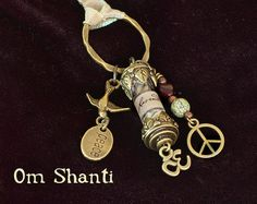 """Talisman, """"Om Shanti"""",  a witch's charm to bring peace and serenity."""