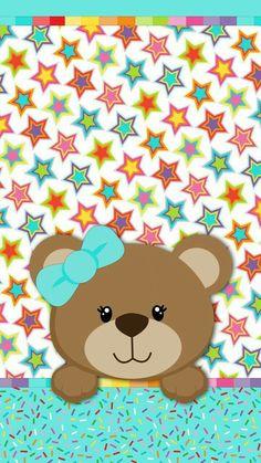 Hello Kitty Wallpaper, Bear Wallpaper, Cute Wallpaper Backgrounds, Love Wallpaper, Cute Wallpapers, Wallpaper Iphone Disney, Cellphone Wallpaper, Baby Disney Characters, Cute Bear Drawings