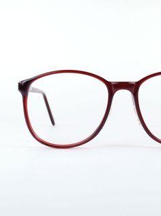 Round Oversize Horn Rim Eyeglasses Vintage 1980s by thenovelty