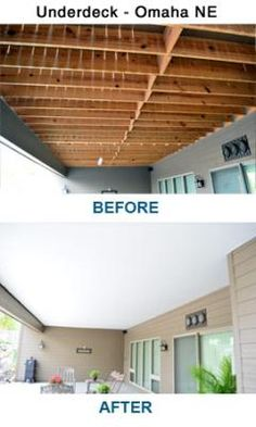 Under Deck | Zip-Up Ceiling and UnderDeck Systems --- Zip-UP Underdeck® finishes the underside of your deck providing dry, useable outdoor living space without sacrificing headroom or the beauty of your deck. The Zip-UP Underdeck System provides ease of installation and a washable mold resistant surface, while channeling any water from above to your gutter system.