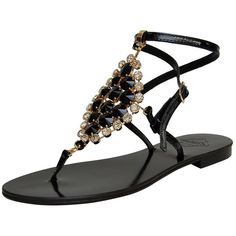7f84ba98b Emanuela Caruso FLAT JEWELED SANDAL Flat Shoes