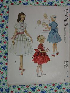 Vintage Pattern c.1951 Mcall's No.8709  Girls by auntnonniesnest, $7.00