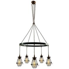 Makes a wonderful feature light for a high stairwell or entrance hall or for lighting in open plan barn conversions. Buy Chandelier, Chandelier Lighting Fixtures, Hanging Ceiling Lights, Industrial Chandelier, Contemporary Chandelier, Pendant Light Fixtures, Light Fittings, Pendant Lamp, Chandeliers