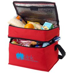Oslo Cooler Bag.  Keep your brand cool! These hard-wearing, foil lined, cool bags will make a perfect picnic companion! 2 separate zipped compartments to ensure all their treats are securely packed, the larger compartment at the base is ideal for food and drink with smaller top compartment perfect for cutlery and smaller items. Choice of colours each with a black webbed shoulder strap and black trims.