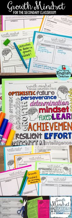 Students excel when they cultivate a growth mindset. These growth mindset activities for middle school and high school are engaging, and they will help teachers create a growth mindset in the classroom.