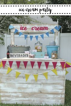 Host a darling Ice Cream Cart Birthday Party with inspiration from Everyday Party Magazine #IceCreamSundaeBar #NationalIceCreamMonth #IceCreamParty