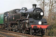 Bluebell Railway 'Branch Line Weekend' British Railways Standard class 4 steam tank engine @ Sheffield Park Diesel Locomotive, Steam Locomotive, Sheffield Park, Old Train Station, Milwaukee Road, Abandoned Train, Steam Railway, Rail Car, British Rail