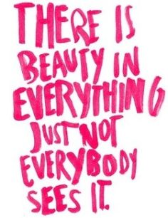 Beauty Hot Pink Quote