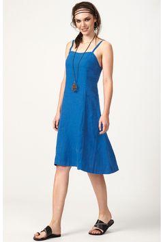 PLS fashion : Φόρεμα τιραντάκι (8135) Linen Dresses, Summer Dresses, Fashion, Moda, Summer Sundresses, Fashion Styles, Fashion Illustrations, Summer Clothing, Summertime Outfits