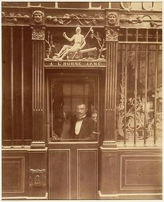 Eugène Atget (French, 1857–1927). À L'Homme Armé, 25 rue des Blancs-Manteaux, Paris, 1900. The Metropolitan Museum of Art, New York. Gilman Collection, Purchase, Mrs. Walter Annenberg and The Annenberg Foundation Gift, 2005 (2005.100.515)