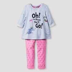 Toddler Girls' Dr. Seuss Top And Bottom Set from OshKosh® - Pink : Target