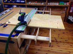 Har tegnet et fresebord jeg straks skal starte på.Toppen og anlegg er fra Kreg, freseplate fra Woodpecker og fresen en Triton TRA001.Bordet skiller seg ikke veldig fra det en finner på nett,