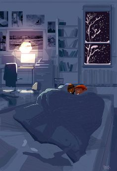 The best place to be on a snowy night by PascalCampion on DeviantArt