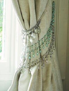 curtain tie backs.