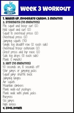 Week 3 workout of winter shape up via fitnessista