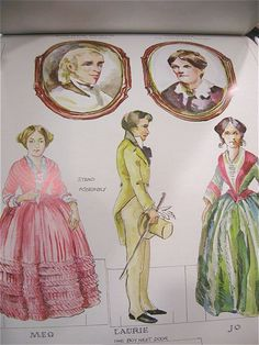 Uncut Little Women Paper Dolls from antiquesonascot on Ruby Lane