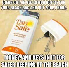 Voor op strand. En veilig voor diefstal