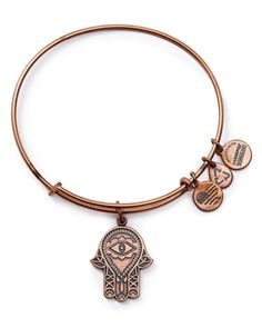 Alex and Ani Hand of Fatima Rose Gold Tone Wire Bangle - 100% Bloomingdale's Exclusive