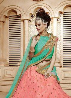 Bridal and Engagement Lehenga Choli Bollywood Lehenga, Net Lehenga, Bridal Lehenga Choli, Indian Dresses, Indian Outfits, Party Wear Lehenga, Indian Ethnic Wear, Indian Fashion, Wedding Dresses