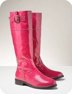 Prefer them not be so shiny, but nice for spring. Pink Skinny Jeans, Fashion Brand, Womens Fashion, Pink Boots, Everything Pink, New Shoes, Jeans And Boots, Rubber Rain Boots, Riding Boots