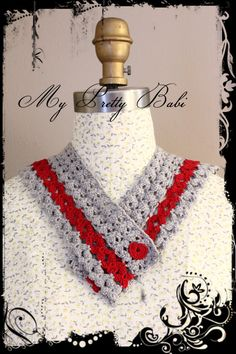 Sailor Collar Crochet Collar Detachable Collar by myprettybabi, $123.00 #handmade #crochet