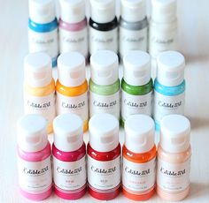 Use pastel blue Edible Art Paint for painting and decorating cake pops, icing…