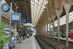 The Nice Train Station in Nice, France Nice France, South Of France, Little Engine That Could, The Beautiful South, Moving To Canada, Nicoise, French Christmas, Living In Europe, Train Stations