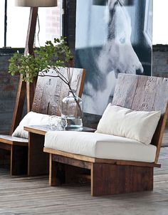 Rustic wood chair | furniture design
