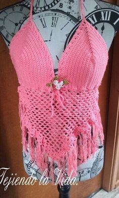 Crochet Top, Tops, Women, Fashion, Tejidos, Needlepoint, Moda, Fashion Styles, Fashion Illustrations