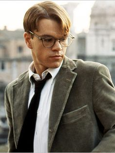 Matt Damon as Tom Ripley in The Talented Mr. Ripley.