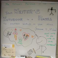 8th grader Adrienne's metaphor about writer's notebooks...my first student-winner of the 2012-13 school year.