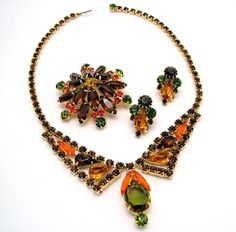 Vintage Rhinestone Necklace Brooch & by ALLUWANTISHERETODAY, $90.00