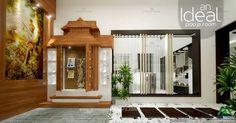An ideal pooja room... Our Website : http://www.monnaieinteriors.com/ #poojaroom #interior #design