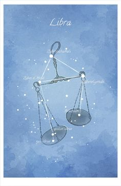 Astronomy art Libra constellation luminescent by LaPetiteMascarade, $28.00