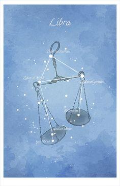 Astronomy art Libra constellation luminescent by LaPetiteMascarade