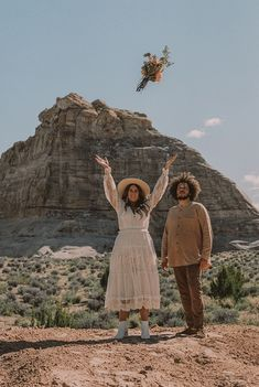 A DESERT ELOPEMENT – Spell Bohemian Wedding Inspiration, Bohemian Wedding Dresses, Bohemian Weddings, Bohemian Style, Getting Engaged, Fake Flowers, Great Friends, First Night, Beautiful Landscapes
