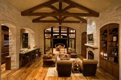 \house with exposed trusses | Eppright Homes Gallery Home Decor Liquidators, Rustic Kitchen Design, Rustic Decor, Rustic Style, Modern Rustic, Rustic Room, Rustic Contemporary, Rustic Elegance, Rustic Barn