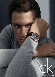 SHAUN DEWET APPEARS IN CALVIN KLEIN SUMMER 2013 WATCHES CAMPAIGN