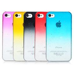 Bubbles Gradient Color Transparent Back Case for iPhone 4/4S(Assorted Color) – USD $ 3.05