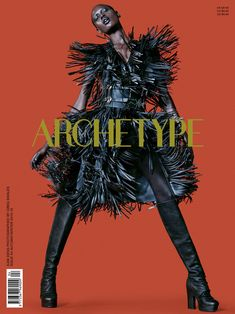 Ajak Deng on Archetype #4 Fall-Winter 2015 cover