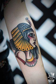 Cleopatra by Dennis. LTW Tattoo Studio.