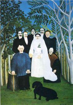 Henri Rousseau (1844 - 1910) | Naïve Art (Primitivism) | The wedding party  - 1905