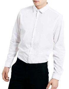 eb88670cefb3 Topman Slim Fit Sport Shirt White Medium TD087 GG 14  fashion  clothing   shoes