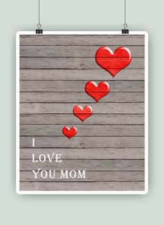 "Mother day art, Mother day poster, Mom gift. ""I love you mom"", ""Te quiero mamá"", ""Je t'aime maman"", ""Ich liebe dich mutti"", Keepsake. by PrintCorner on Etsy https://www.etsy.com/listing/225249454/mother-day-art-mother-day-poster-mom"