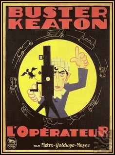 The Camera Man 1928 Buster Keaton - Vintage Poster Print Retro Style Classic… Art Deco Posters, Film Posters, Vintage Posters, Silent Film Stars, Movie Stars, Buster Keaton Movies, Movie 20, Metro Goldwyn Mayer, Tv