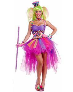 Women's Sexy Tutu Lulu the Clown Costume | Sexy Clown Halloween Costumes