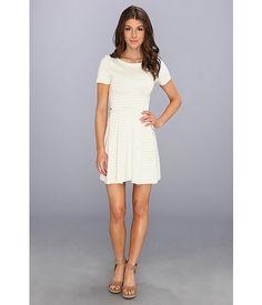 Lacoste Short Sleeve Interlock Stripe Jersey Dress