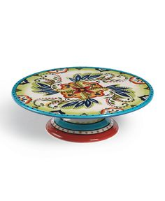 Well, that's just darn gorgeous. Pie Bird, Cake Pedestal, Dessert Aux Fruits, Cake And Cupcake Stand, Talavera Pottery, Plate Carrier, Plate Stands, Dish Sets, Cake Plates