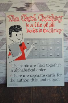 1965 Rare Vintage Library Poster The Card by WholesumHousewifeVtg, $38.00